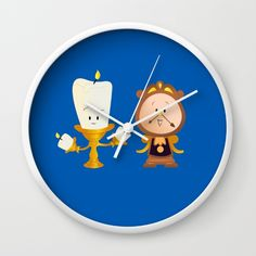 Baby Lumiere & Baby Cogsworth Wall Clock