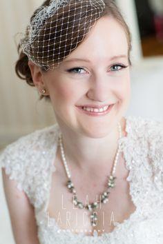 Meghan Cotton Makeup Artistry, natural bride, lashes, vintage, cage veil, Hair- Natalie Regis, Leah Laricca Photography