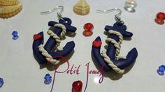 Orecchini ad ancora - stile navy