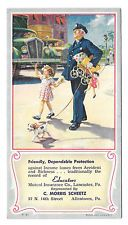 Allentown PA Scheetz Mutual Insurance Advertising Blotter Policeman Girl Dog
