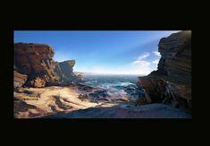 ArtStation - UE4 Shore Line, Tyler Smith