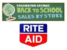 Rite Aid Back to School Deals 2013 - This list is updated each week with the cheapest items on sale.