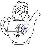 Tea Pot Puppy  - flower