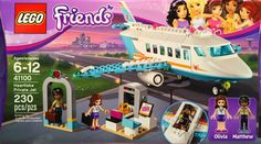LEGO Friends 41100 Heartlake Private Jet Building Kit Set off on a dream vacation in an exclusive Private Jet! Fly away in style with the LEGO Friends Private Lego Batman, Lego Marvel, Spiderman, Lego Girls, Toys For Girls, Legos, Avion Lego, Jet Privé, Lego Friends Sets