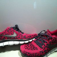 Womens Nike Pink Leopard Running Shoes
