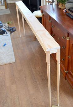 make this sofa table for diy, how to, painted furniture, woodworking projects projects beginner projects diy projects for kids projects furniture projects plans projects that sell Woodworking Projects Diy, Diy Wood Projects, Furniture Projects, Furniture Plans, Home Projects, Diy Furniture, Woodworking Plans, Woodworking Furniture, Furniture Stores