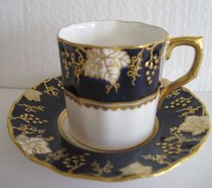 Vintage Royal Crown Derby English Bone China,cup and saucer.
