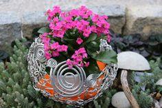 Dekoschale aus Aludraht von Manu`s Kreativ-Kunst-Laden Succulents, Plants, Creative Art, Cordial, Flora, Succulent Plants, Plant, Planting
