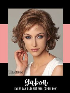 Everyday Elegant Wig by Gabor... Softly waved layers with sides that sweep back bring a touch of glamour to this shag and to any activity, any day. #wigs #wigsmaker #wifglife #hairstyle #haircolor #hairstyles #hairdo #hairoftheday #styleinspo #styles #styleoftheday