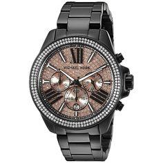 Michael Kors Women's MK5879 Everest Round Black Ion-Plated Bracelet Watch