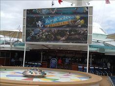 Big screen at Royal Caribbean Enchantment of the Seas
