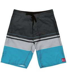 Periscope Stretch Boardshort Black/Teal
