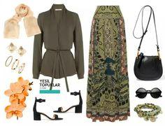 Love the green skirt!