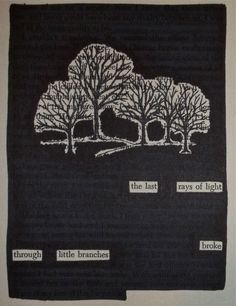 Little Branches   Black Out Poetry   C.B. Wentworth