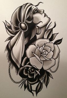 Cassandra Frances - Gypsy Girl. This would make a neat tattoo! ...........click here to find out more http://kok.googydog.com