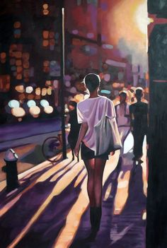 """Street Light"" by Thomas Saliot - oil on canvas"