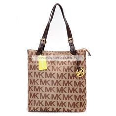 Michael Kors Logo Jet Set Tote Light Khaki/Brown