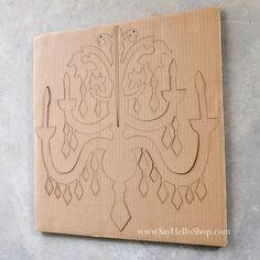 DIY Cardboard Chandelier by sayhelloshop on Etsy, $15.00