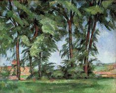 Tall Trees at the Jas de Bouffan - Paul Cézanne - The Athenaeum