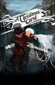 'A Christmas Carol' theatrical poster design by Natalie Sklobovskaya.