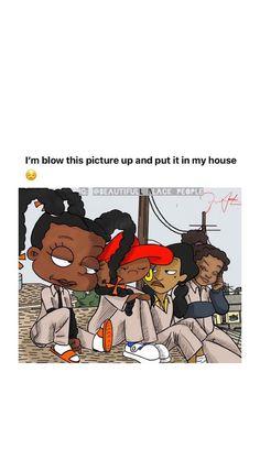 Foto Cartoon, Dope Cartoon Art, Cartoon Pics, Black Love Art, Black Girl Art, Art Girl, Black Art Painting, Black Artwork, Arte Do Hip Hop