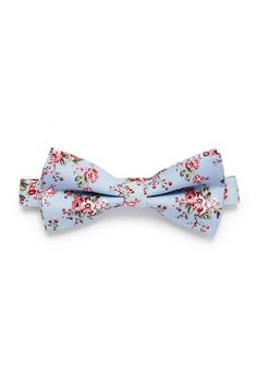 bd02389d3ce5 Shabby Floral Bow Tie - Periwinkle