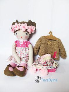 Doll Clothing set for 22 rag doll Dress up doll #heirloomdoll #clothingset #ragdoll #ToysByIna
