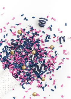 Styled Stock Photography | Navy, pink, white, & gold confetti party image | Styled Stock Photography for creative business owners. Navy, pink, white, & gold confetti image by SCstockshop Join the mailing list and get free styled stock images to your inbox every month: http://shaycochrane.com/sc-insider/