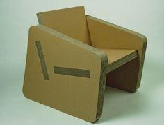 Armchair cardboard. o-bject