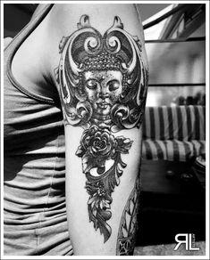 Tatouages par Leonard Radu, créations originales, dotwork, maldala
