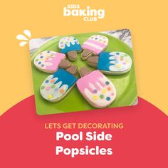 Create poolside popsicle cookies with our August Pool Party Baking Kit. Kids have a blast baking and decorating the recipes and working with all the tools.