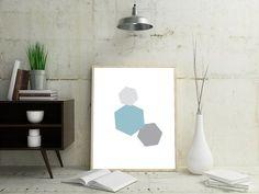 Minimalist Geometric Wall Art Minimalist Geometric by OjuDesign