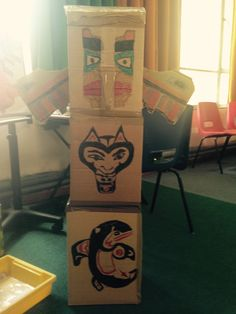 A Year 4 class at St Nicholas Primary School, Oxford, are inspired after a visit to the Pitt Rivers Museum do a Take One.. Totem Pole session.