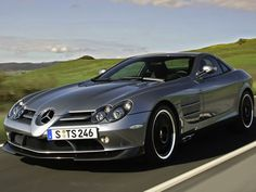 A Mercedes McLaren SLR. The SLR, which is made from carbon-fiber and has carbon-ceramic brakes, boasts a supercharged V8 that generates 617 horsepower. Top speed: 208 mph. All for just $450,000!!!!