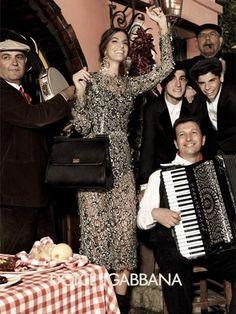 Dolce & Gabbana Fall 2012 Ad Campaign  Bianca Brandolini, photographed by Giampaolo Sgura
