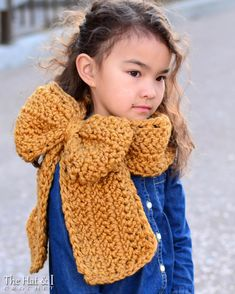 CROCHET PATTERN - Gift Wrapped Cowl - a crochet cowl pattern, big bow cowl pattern in 3 sizes (Toddler, Child, Adult) - Instant PDF Download