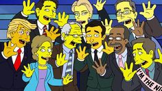 """The Simpsons """"Treehouse of Horror"""" is nothing compared the very real possibility of a President Trump. Marge hyperventilates at the thought in an online exclusive.   http://l7world.com/2016/02/simpsons-dream-presidential-candidate.html"""