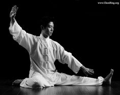 """Laoshi Bosco's """"Die Cha"""" or Fall Down Split from Chen family Old Frame First Road. Tai Chi, Chen, Martial Arts, Teacher, Photo And Video, Usa, Fall, Autumn, Professor"""