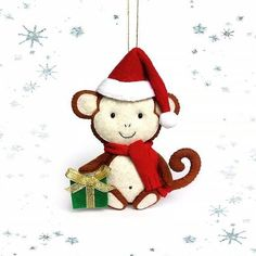 Best decoration for 2016 Monkeys. Adorable decor for your Christmas tree or addition to your collection of Christmas ornaments. Is an excellent gift for your friends or family. You could use it as toy or put him anywhere in your home.  Ready to buy? Hurry up to order it now!!! Contact me:  My etsy shop: www.etsy.com/shop/BelkaUA My e-mail: olesya.bagriy@gmail.com My viber: +380939825275  #accessories #handcraft #handmade #girls #babygirl #christmas  #gift #christmastree #style #birthday…