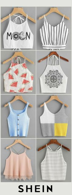Crop tops ideas para Crop top outfits Summer Outfits Travel Outfits 2019 Spring O … - Cute Summer Outfits, Cute Casual Outfits, Pretty Outfits, Stylish Outfits, Summer Clothes, Spring Outfits, Summer Dresses, Girls Fashion Clothes, Teen Fashion Outfits