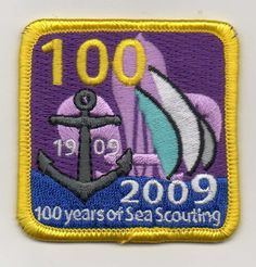 UK Scout 1909 2009 100 100 Years Of Sea Scouting badge