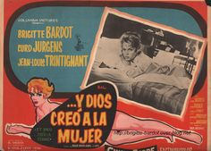 Y Dios Creo a la Mujer (And God Created Woman) | Spanish movie poster, 1956.