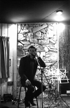 Ian Curtis in a recording studio