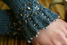 beaded....... whoa ~ love the colour and really makes me want to try the beading. These are cuffs by Aquitaine and made by Sivia and can be purchased ~ however Sivia has generously put instructions on this site which can be followed.  Really lovely!