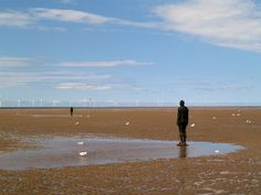 Antony Gormley, Another Place at Crosby Beach.