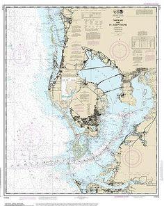 Tampa Bay St. Joseph Sound Nautical Chart printed on sailcloth for home décor wall art print. Unique Textile Printing http://www.amazon.com/dp/B00S74V9D8/ref=cm_sw_r_pi_dp_eT0.ub0NARZRM
