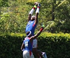 Ricky Seals-Jones showed off his leaping ability at The Opening this summer (Photo by Bud Elliott).