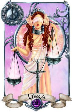 Leo - Virgo - Libra - Scorpio Here is the second part of my redesigned Zodiac cards. Art Libra, Zodiac Art, My Zodiac Sign, Astrology Zodiac, Aries, Signo Libra, Justitia Tattoo, Art Zodiaque, Anime Zodiac