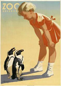 """NAUMANN Horst (1908-1989) """"Zoo Dresden"""""""