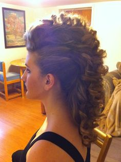 Epic curly faux hawk. Hairem Salon, Hamilton, ON. #hair #epic #fauxhawk